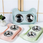 Stainless Steel Double Pet Bowls Dog Cat Water Food Non Slip Feeding Bowls LC