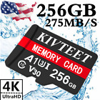 256GB Micro SD Memory Card Fast 275MB/S 4K Class10 Flash TF Card with Adapter