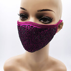 Bling Face Mask Swarovski Crystal Mask Diamond Bedazzled Face Mask Sparkly Mask