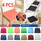 4 Pcs Chair Seat Pads Dining Cushions Tie On Garden Furniture Outdoor Patio Uk