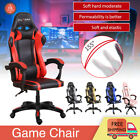 Racing Gaming Computer Chair Desk PU Recliner Office Swivel Lift Executive Seat