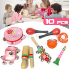 10Pcs Percussion Xylophone Set Baby Toddler Musical Instrument Toys Band Wooden