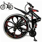 Outroad Mountain Bike 21 Speed 26 inch Folding Bike Double Disc Brake Bicycles T