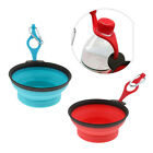 Portable Pet Dog Cat Collapsible Silicone Food Water Feeder Travel Bowl Dish