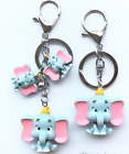2pcs Cute baby elephant keychain birthday gift bag pendant car key ring