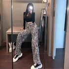 Lady Zebra Pattern Wide Leg High Waist Casual Going Out Party Nightclub Pants