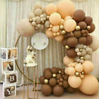 Coffee Brown Balloons Arch Kit Baby Shower Supplies Backdrop Wedding Party Decor