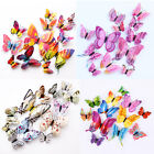 24pcs 3d Butterfly Magnets Wall Decals Removable Sticker Nursery Room Home Decor