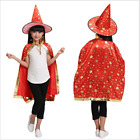 Kids Witch Cloak Robe Pumpkin Style Cape for Fancy Dress Costume cosplay party