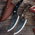 Serbian Forged Butcher High Clad Steel Boning kitchen chef Knife Cleaver Hunting