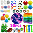 38 Pack Fidget Toys Set Sensory Tools Bundle Stress Relief Hand Kids Adults Toys
