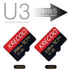 256GB 128GB 64GB Micro Memory SD Card 4K Flash TF Card Class10 With Adapter New