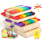 50X POPSICLE STICKS FLAT NATURAL WOODEN STICKS HOME MADE ICE POPS PLANT LABEL A
