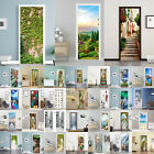 3d Landscape Simulation Door Wall Pvc Sticker Self-adhesive Decals Home Decor