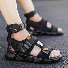 Men New Ankle Strap Sandals High Top Sports Flats Outdoor Open Toe Hip Hop Shoes