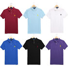 Ralph Lauren Mens Mesh Embroidery Short Sleeve Classic Fit Polo Shirt Small Pony