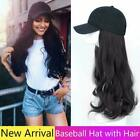 NEW Adjustable Baseball Cap With Wig Long Straight, Curly Hair Wigs Cosplay Hat.