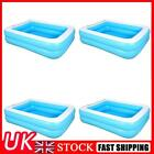Summer Inflatable Swimming Pool Adults Kids Thicken PVC Rectangle Bath Tub UK