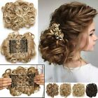 MEGA LARGE THICK Curly Chignon Messy Bun Updo Clip in Hair Extensions AS REAL