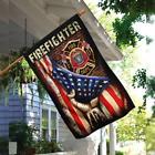 FIREFIGHTER American Flag US Independence Day Wall Home Garden FLAG