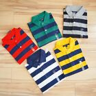 NWT Tommy Hilfiger Men's Short-Sleeve Classic Fit Soft Cotton stripe Polo Shirt