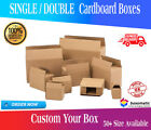 STRONG SINGLE & DOUBLE WALL CARDBOARD BOXES - POSTAL REMOVAL MOVING x 5