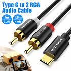 USB Type-C to 2 RCA Male Stereo Audio Cable USB-C Jack Converter Adapter Cord US