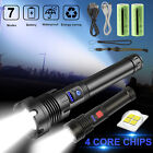 XHP90.2 Zoom LED Flashlight Rechargeable 26650 Torch Super Bright Tactical Lamp